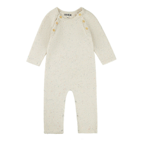 Baby Boys White Cotton Babysuit
