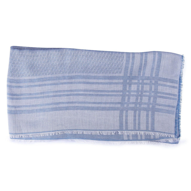 Boys&Girls White Check Scarf - CÉMAROSE | Children's Fashion Store - 1