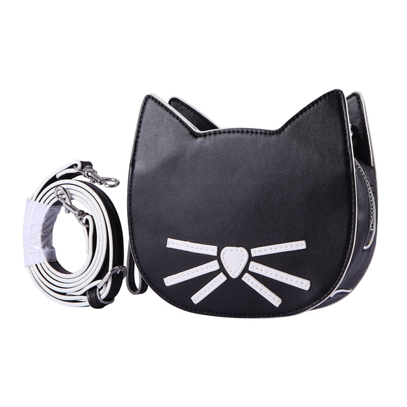 Girls Black Cat Head Style Bag - CÉMAROSE | Children's Fashion Store - 2