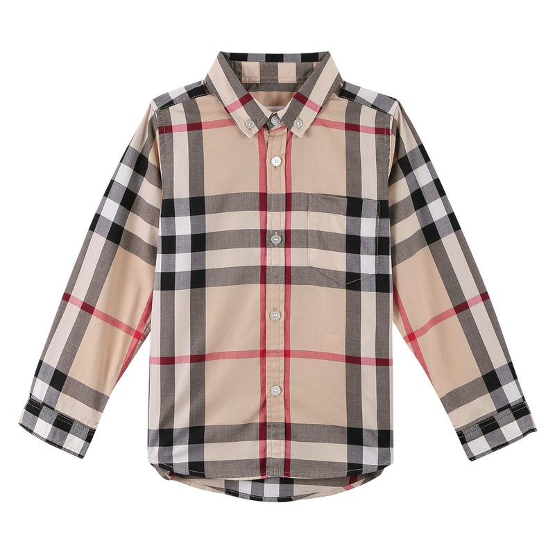 Boys Multicolor Classic Check Long Sleeve Shirt - CÉMAROSE | Children's Fashion Store - 1