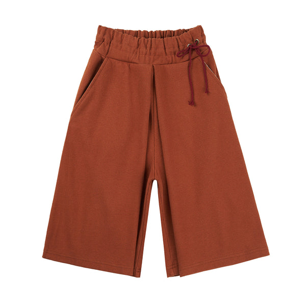 Girls Brown Cotton Trousers