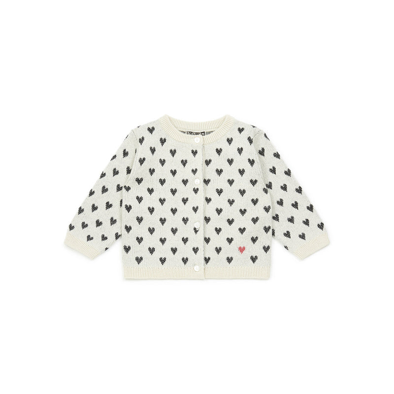 Baby Girls Ecru Coeur Cardigan