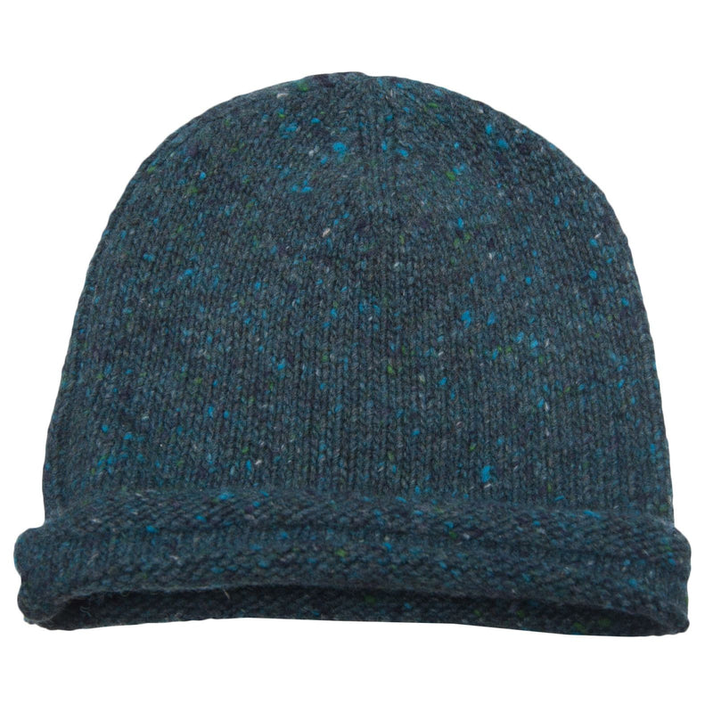 Boys Navy Blue Knitted Wool Hat - CÉMAROSE | Children's Fashion Store - 1