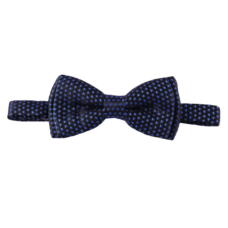 Boys Navy Blue Bow Ties With Star Print Trims - CÉMAROSE | Children's Fashion Store - 1