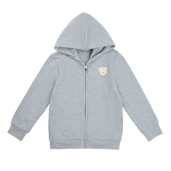 Baby Boys Grey Zip Cotton Jacket