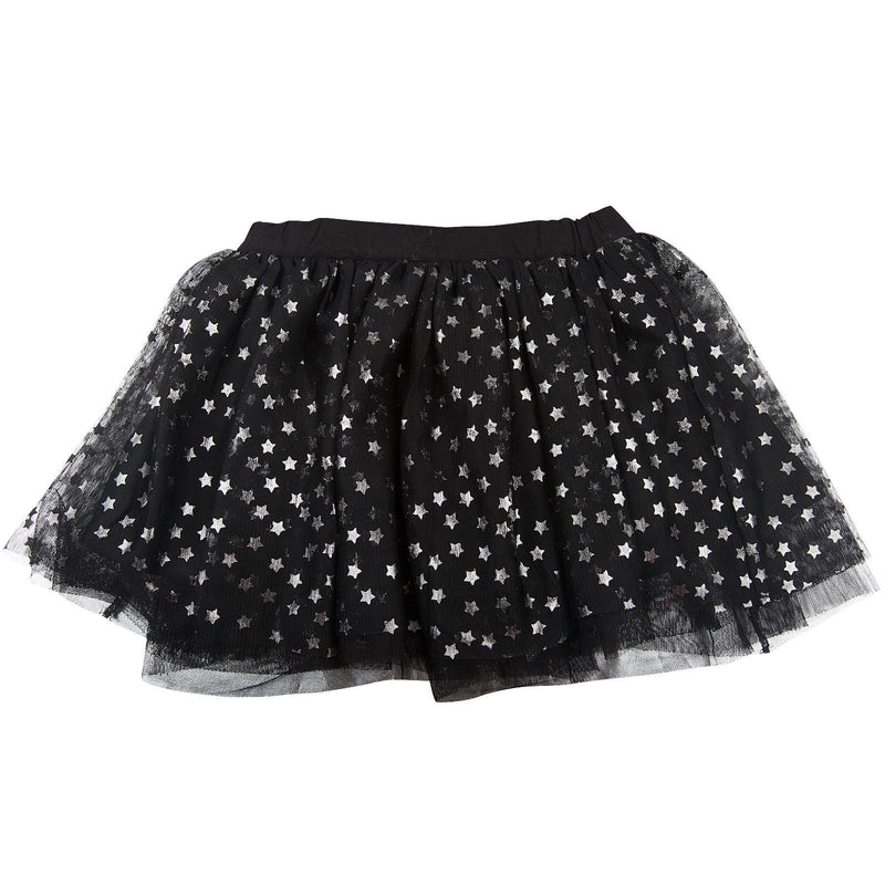 Honey Girls Black Tulle Skirt With Silver Stars - CÉMAROSE | Children's Fashion Store - 1