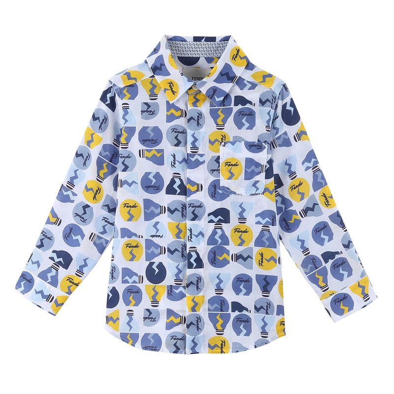 Boys Multicolor Printed Trims Jersey Cotton Shirt - CÉMAROSE | Children's Fashion Store - 1
