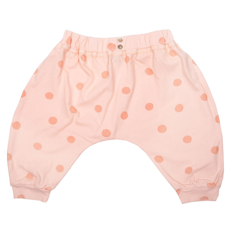 Girls Light Pink Spot Printed Trousers - CÉMAROSE | Children's Fashion Store
