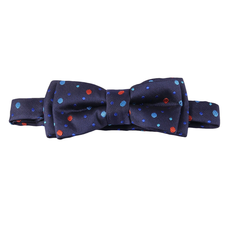 Boys Navy Blue Bow Ties With Colorful Spot Trims - CÉMAROSE | Children's Fashion Store - 1
