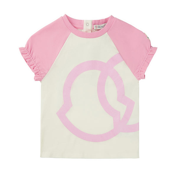 Baby Girls White Logo Cotton T-shirt