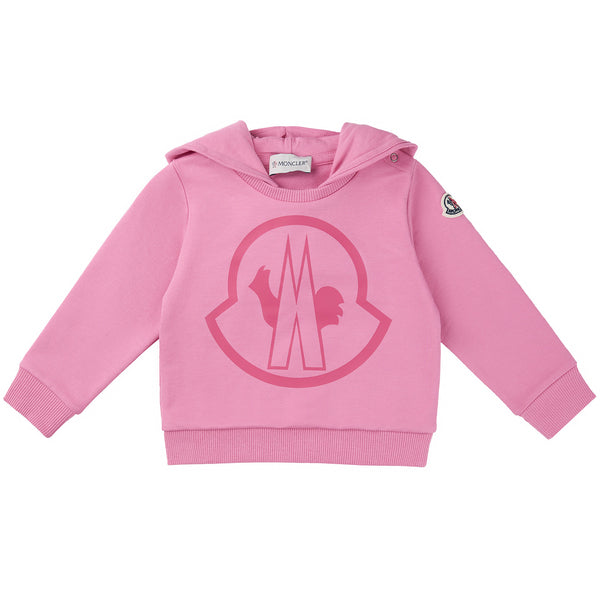 Baby Girls Pink Logo Cotton Sweatshirt