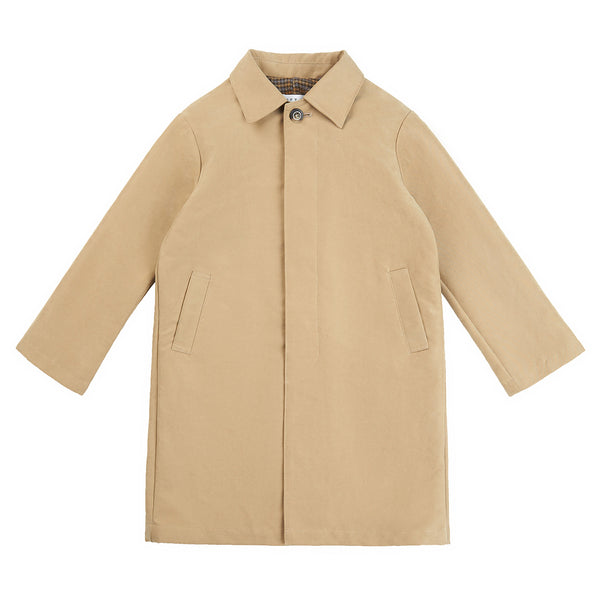 Boys & Girls Beige Cotton Coat