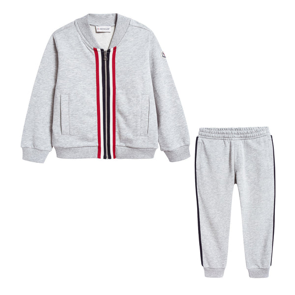 Boys Grey Tracksuit Set