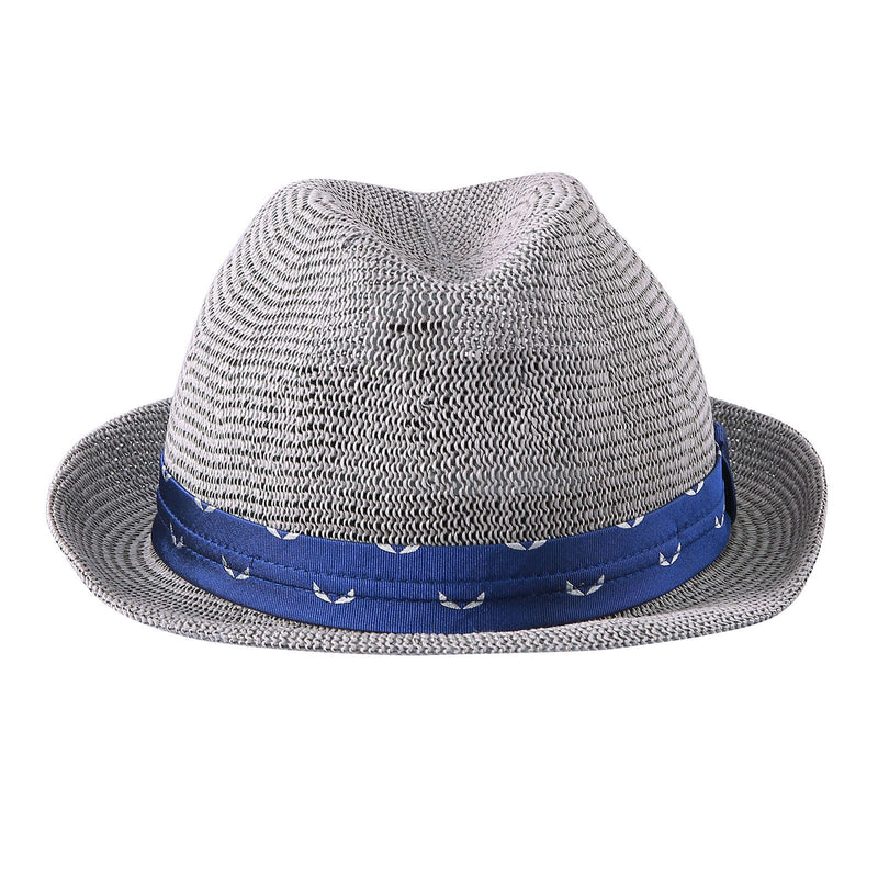 Boys Grey Hat With Blue Ribbon Trims - CÉMAROSE | Children's Fashion Store - 1