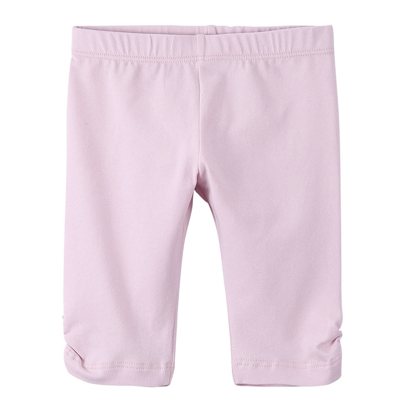 Baby Girls Pink Cotton Ruffle Cuffs Leggings With Patch Logo - CÉMAROSE | Children's Fashion Store - 1