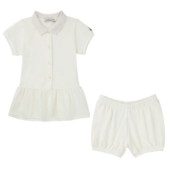 Baby Girls White Cotton Set