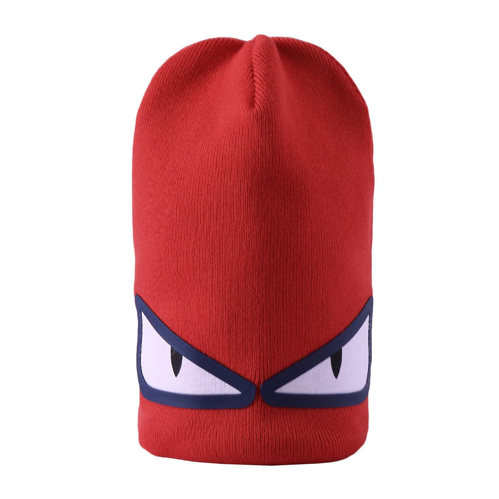 700009158f4 Boys Light Red Knitted  Monster  Eyes Printed Hat – Cémarose