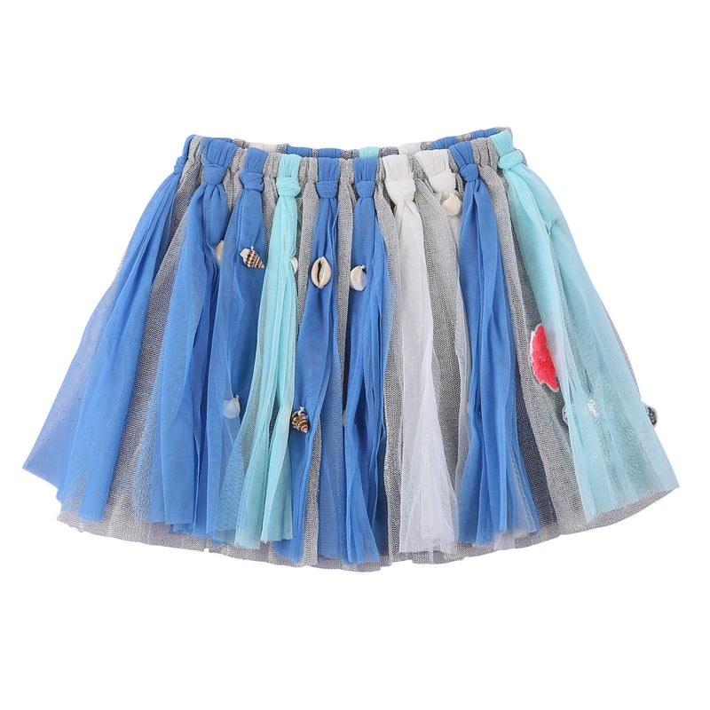 Girls Multicolor Marine Style Skirt With Patch Trims - CÉMAROSE | Children's Fashion Store - 1