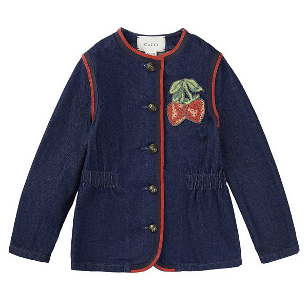 Girls Dark Blue Denim Jacket