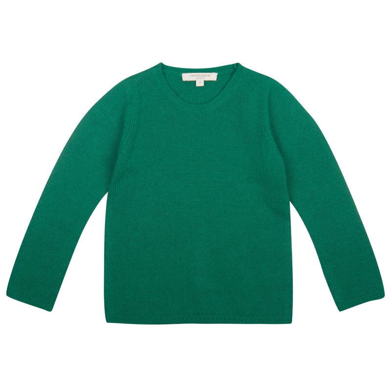 Boys Green Knitted Wool Greenwood Sweater - CÉMAROSE | Children's Fashion Store - 1