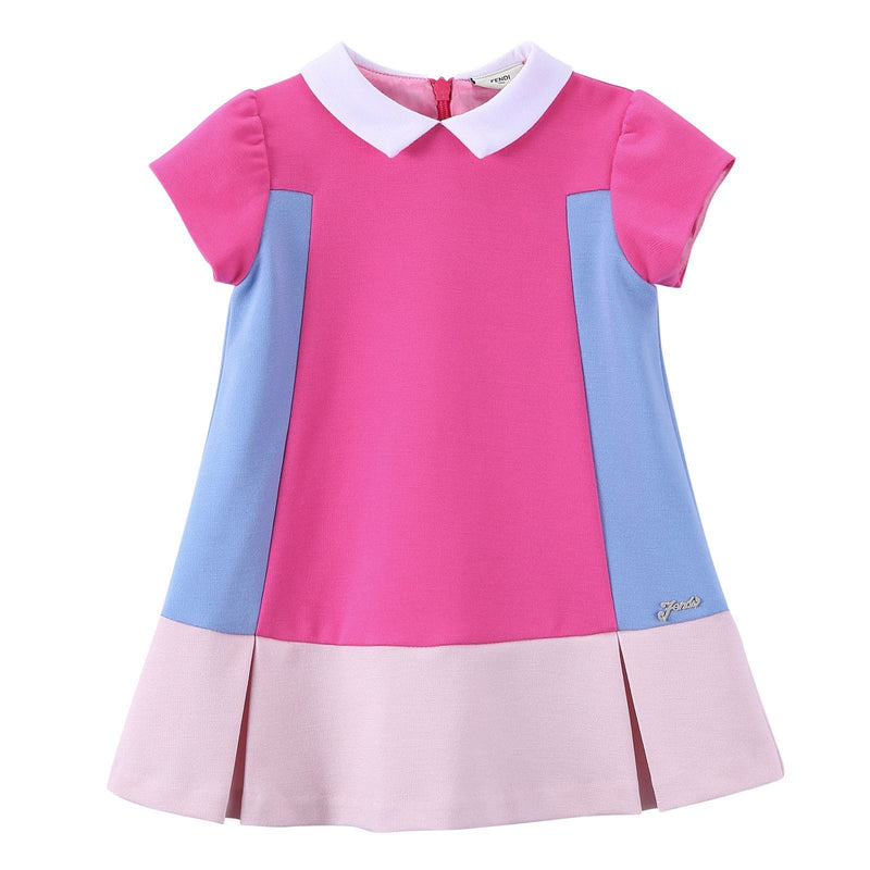 Baby Girls Multicolor Peter Pan Collar Dress - CÉMAROSE | Children's Fashion Store - 1