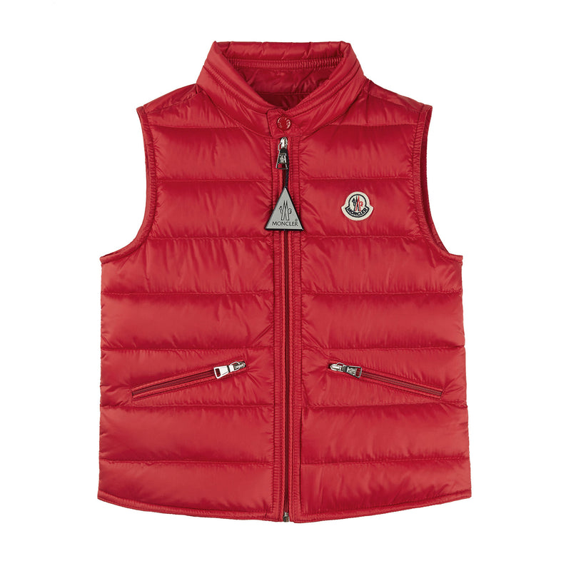 Boys Red Padded Down Gilet