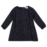 Girls Navy Blue Spot Printed Dress - CÉMAROSE | Children's Fashion Store - 1