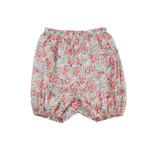Baby Girls Pink Flowers Cotton Bloomers