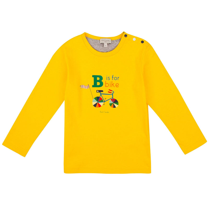 Baby Boys Yellow Multicolor Bike Printed T-Shirt - CÉMAROSE | Children's Fashion Store - 1