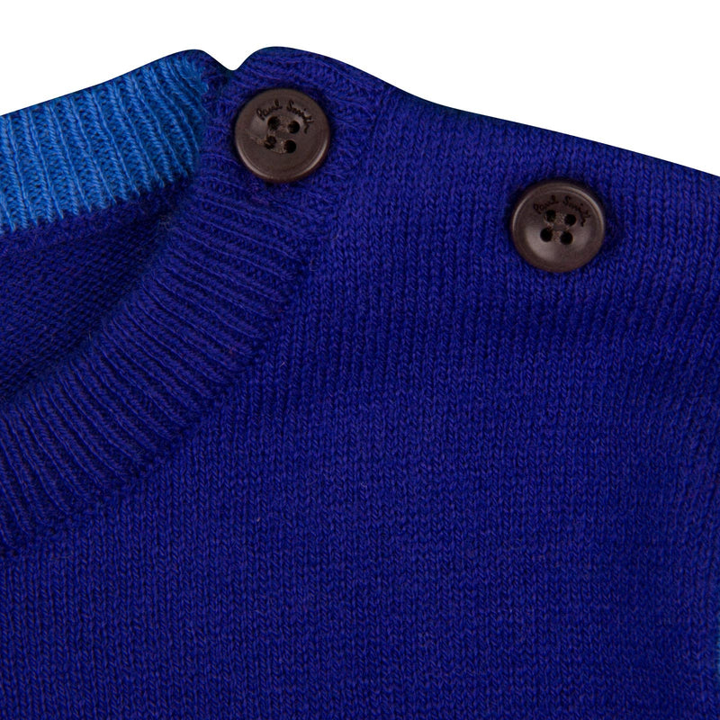 Baby Boys Regatta Blue Embroidered  Robot Sweater - CÉMAROSE | Children's Fashion Store - 4