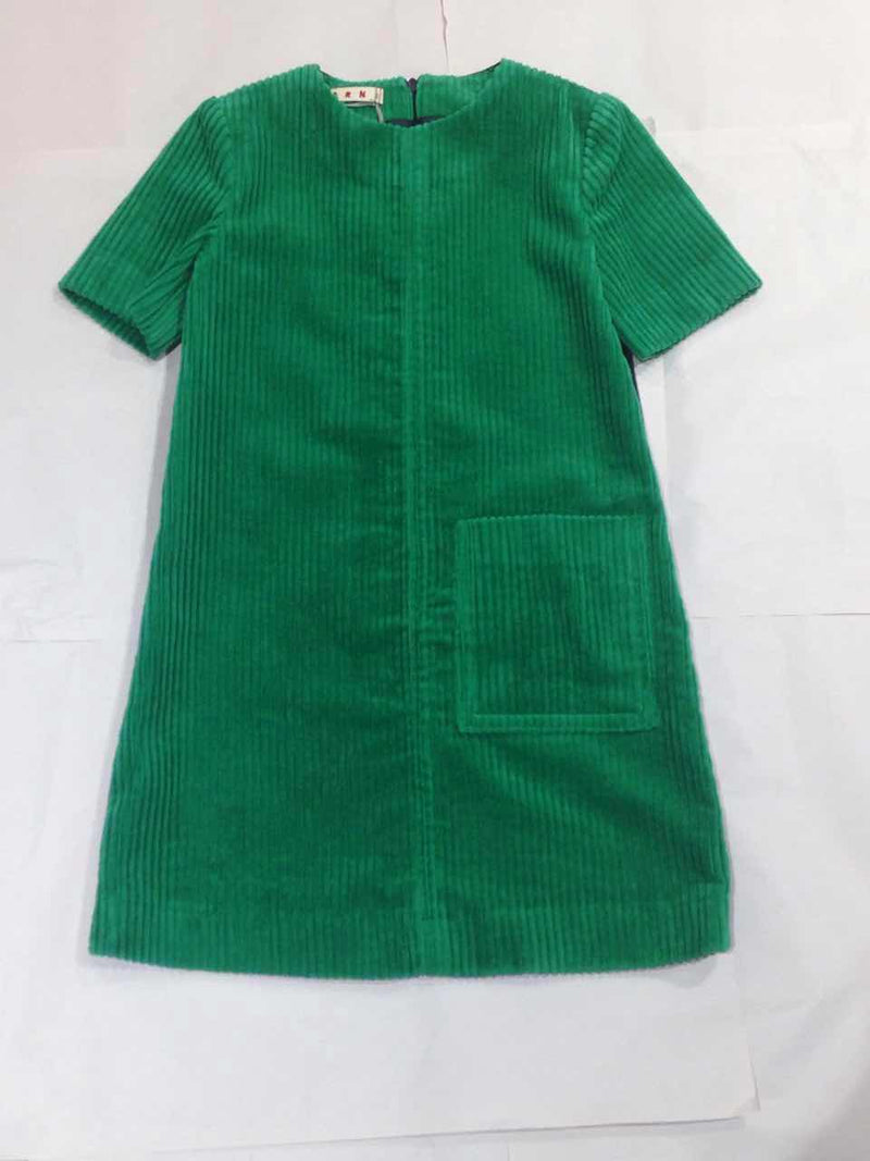 Girls  Bright  Green  Wool  Dress