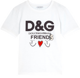 Girls & Boys White DG Friends T-shirt