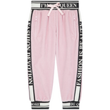 Girls Light Pill Rose Cotton Trousers