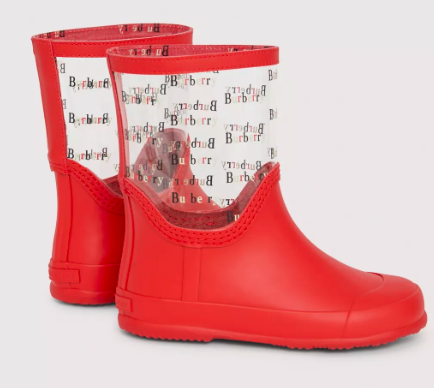 Girls Bright Red Rain Boots