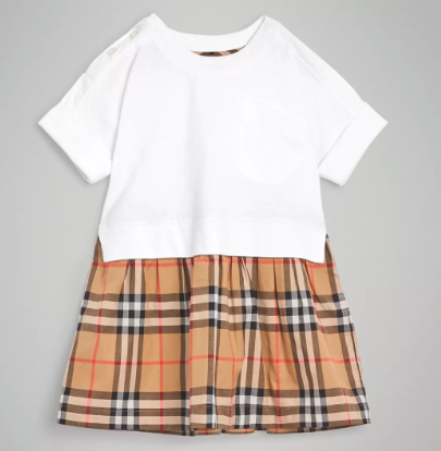 Baby Girls White Cotton Jersy Dress