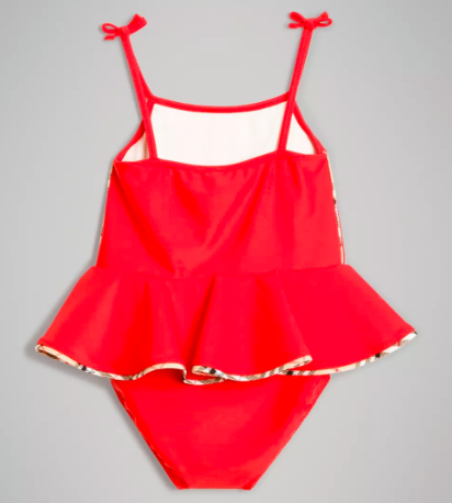 Baby Girls Poppy Red Swimwear