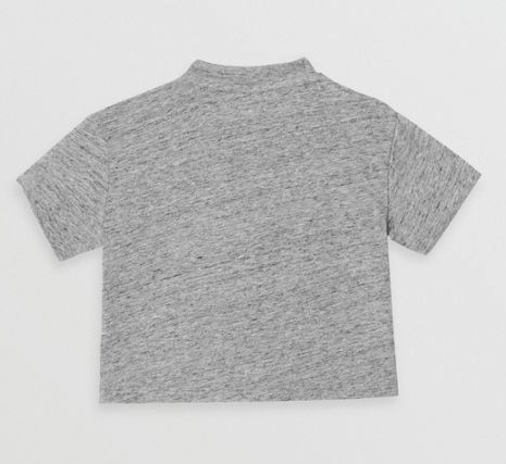 Baby Boys Grey Logo Cotton T-shirt