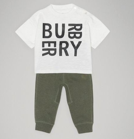 Baby Boys White Logo Cotton T-shirt
