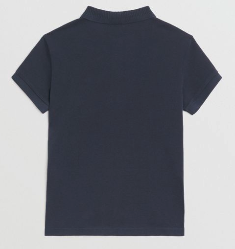 Boys Navy Cotton Polo Shirt