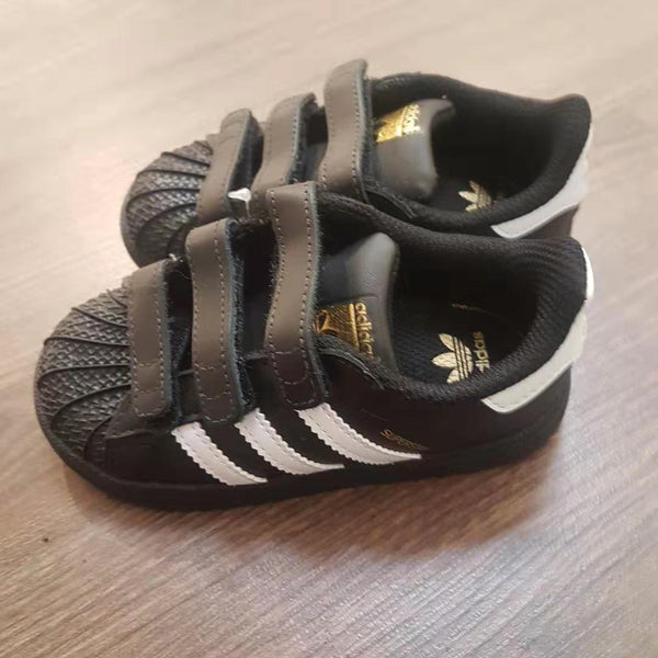"Baby Boys Black ""SUPERSTAR "" Shoes"