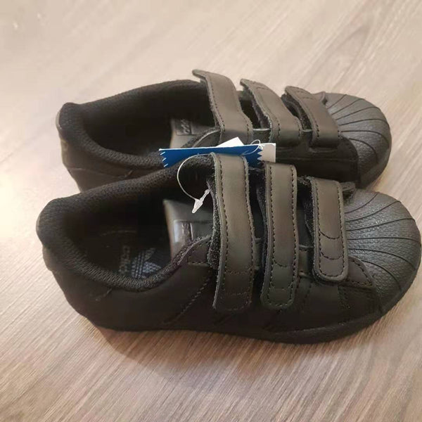 "Baby Boys Black ""Superstar"" Shoes"