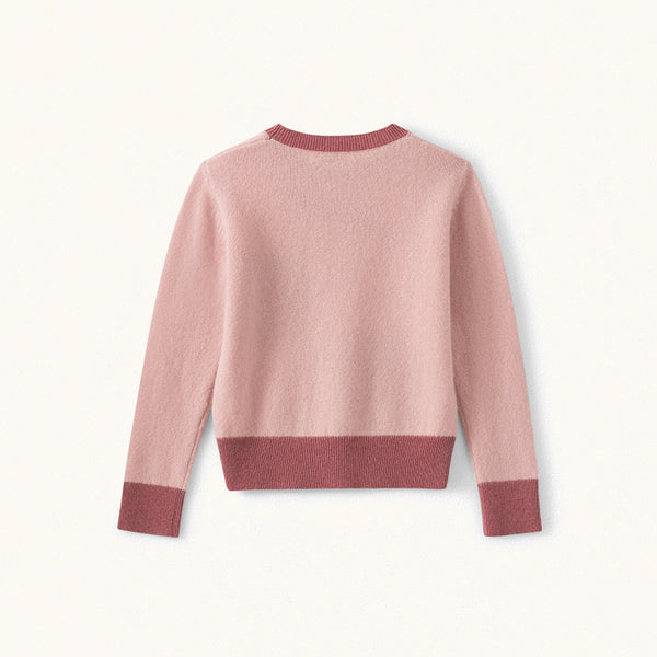 Girls Pink Cherry Cashmere Jumper