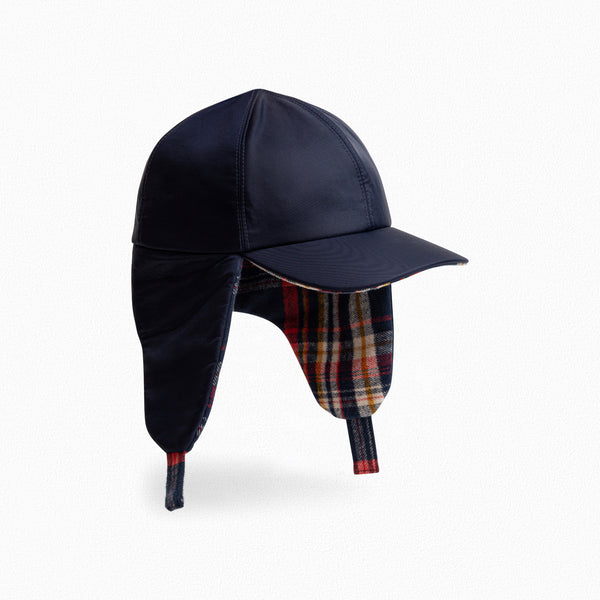 Boys & Girls Storm Blue Check Cap