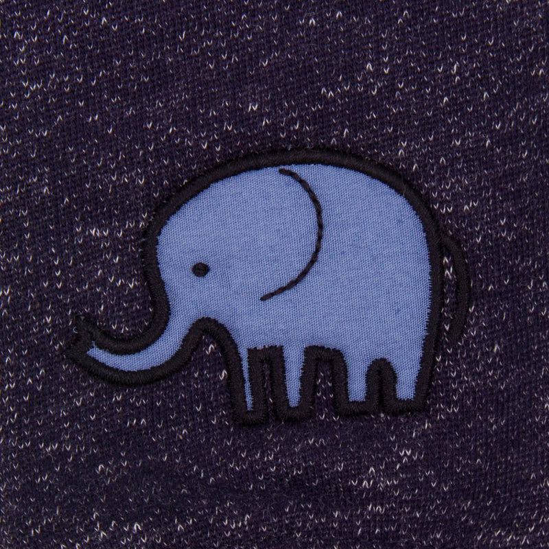 Baby Boys Navy Blue Embroidered Elephant Fleecy  Trousers - CÉMAROSE | Children's Fashion Store - 3