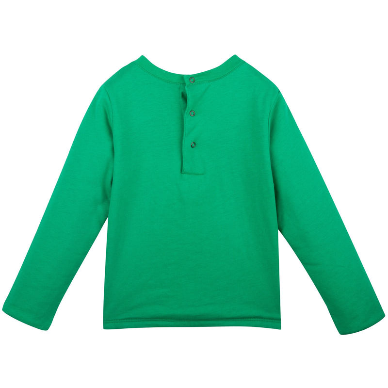 Baby Green Tiger Printed Sweatshirt With Blue Lining - CÉMAROSE | Children's Fashion Store - 2