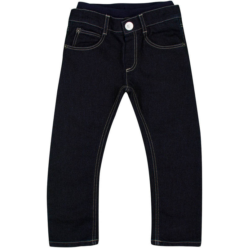 Baby Boys Blue Denim Skinny Fit Jeans - CÉMAROSE | Children's Fashion Store - 1