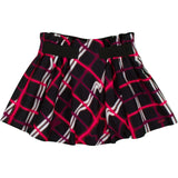 Girls Black Skirt With Red&White Check Printed - CÉMAROSE | Children's Fashion Store - 1
