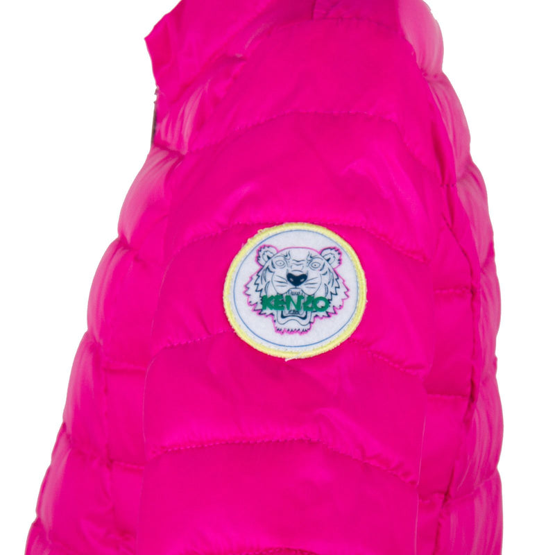 Girls Pink Down Padded Jacket With Zipper Pockets - CÉMAROSE | Children's Fashion Store - 3
