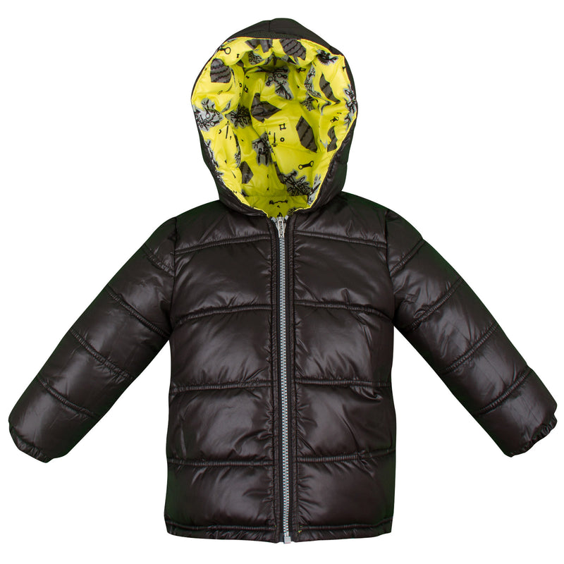 Baby Boys Lime Green Monster Printed Reversible Jacket - CÉMAROSE | Children's Fashion Store - 3