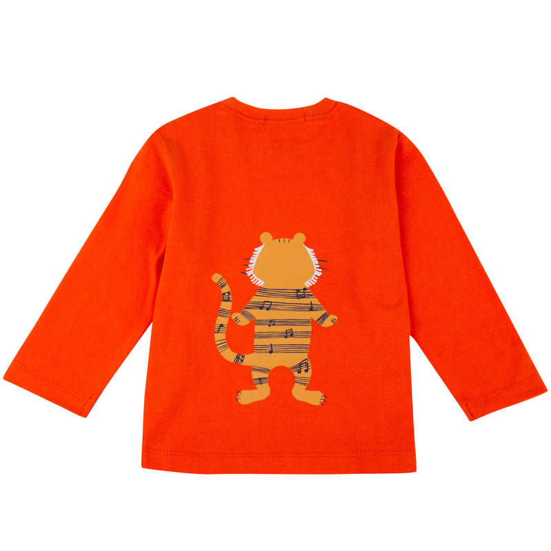 Baby Boys Orange Tiger Printed T-Shirt - CÉMAROSE | Children's Fashion Store - 2